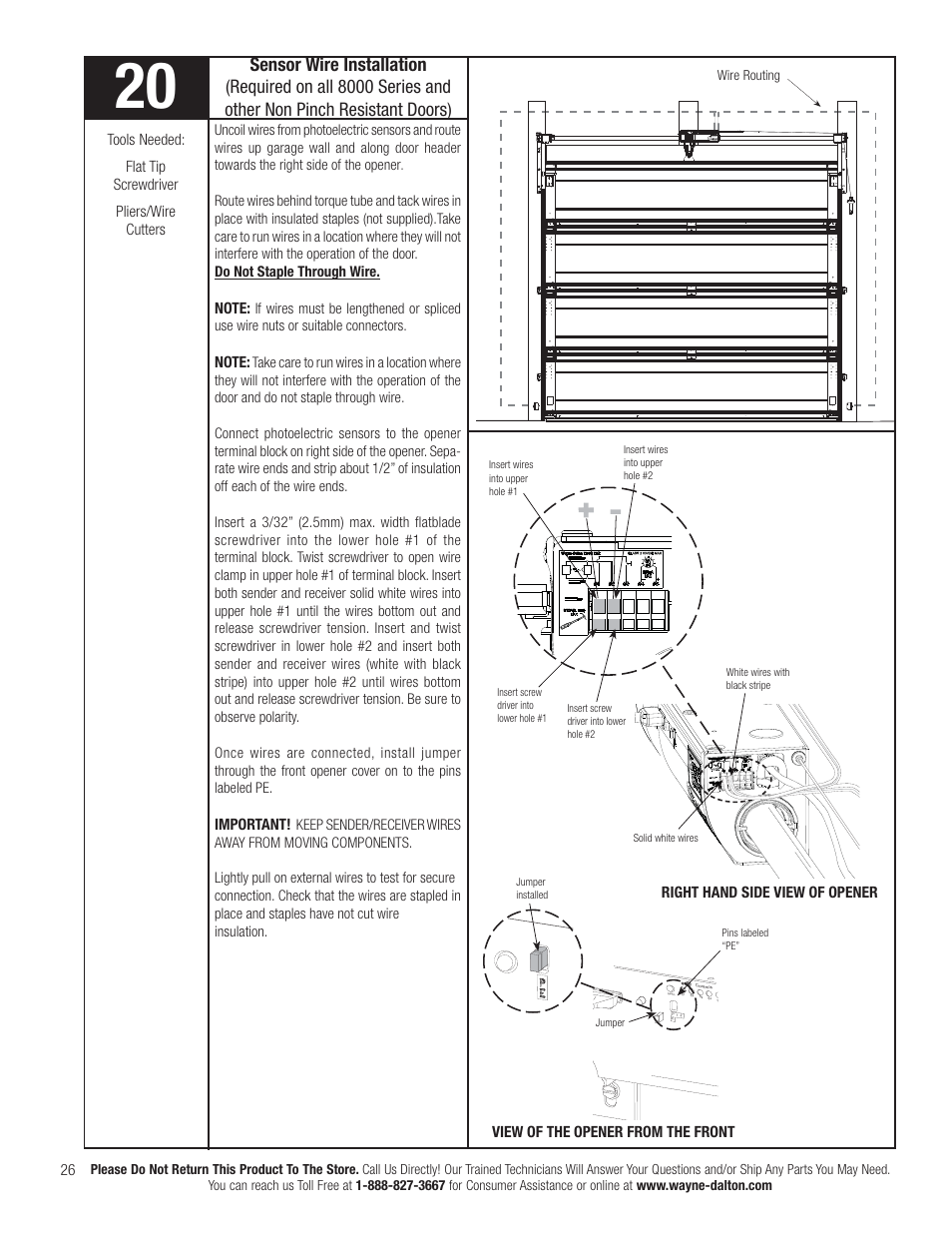 Sensor Wire Installation Wayne Dalton Idrive Pro 3790 Z User Photoelectric Wiring Diagram Manual Page 32 52