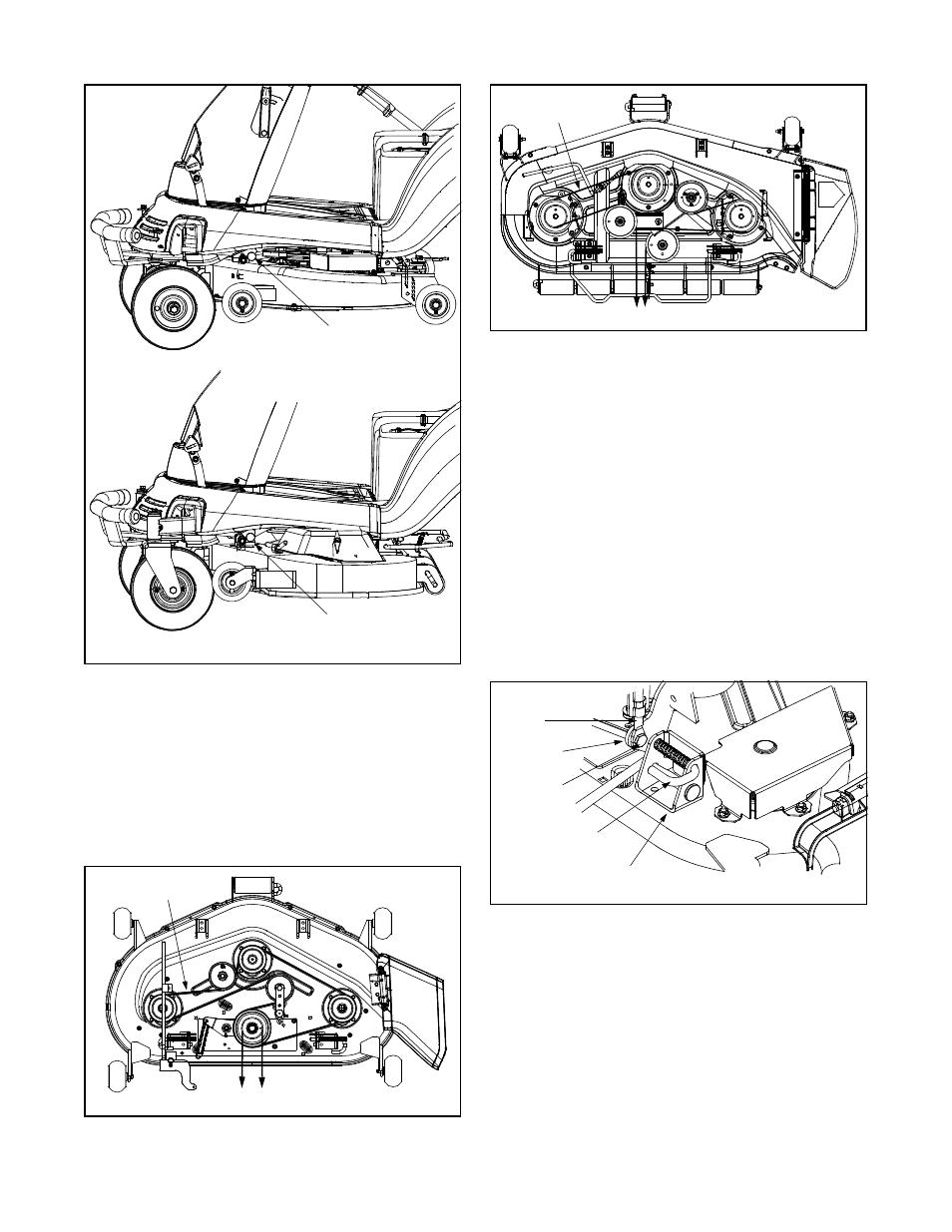 installing mower deck belt  installing the mower deck