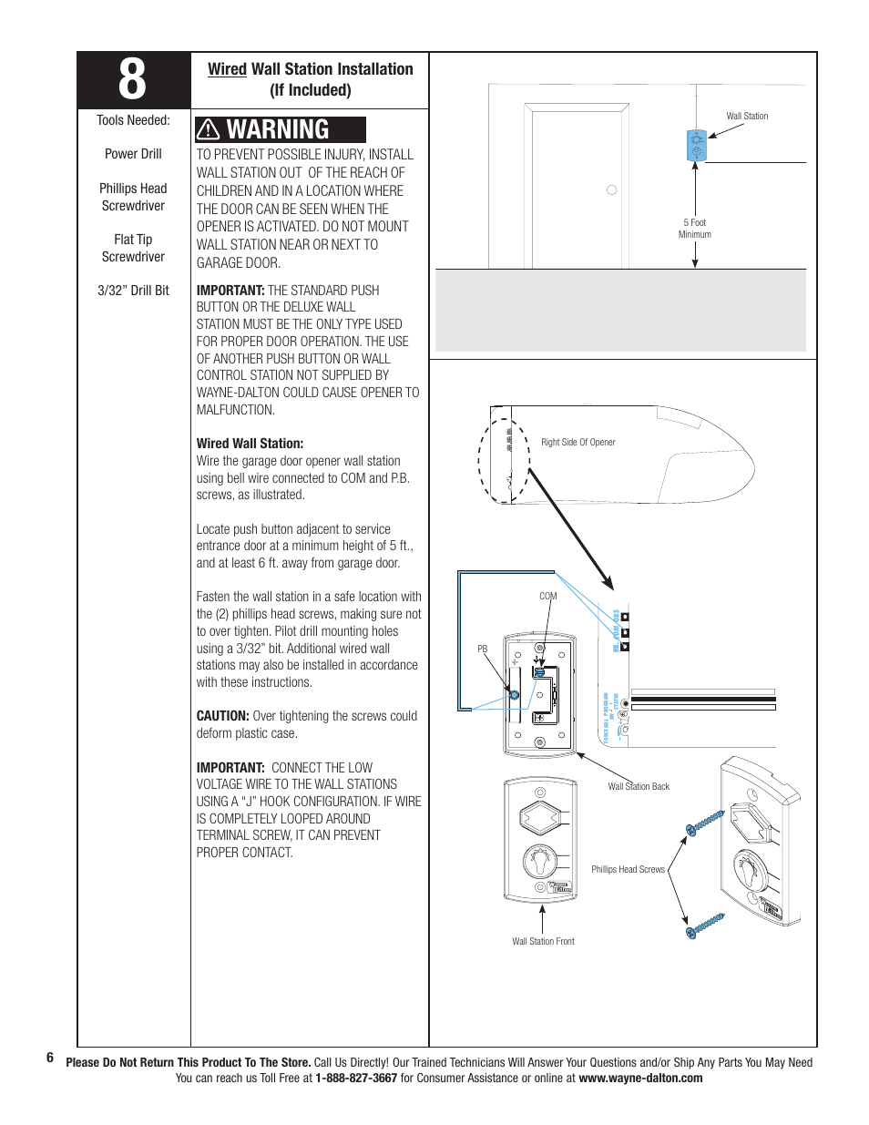 Warning Wired Wall Station Installation If Included Wayne Wire Diagram For Three Button Dalton Prodrive 3222c Z User Manual Page 12 48