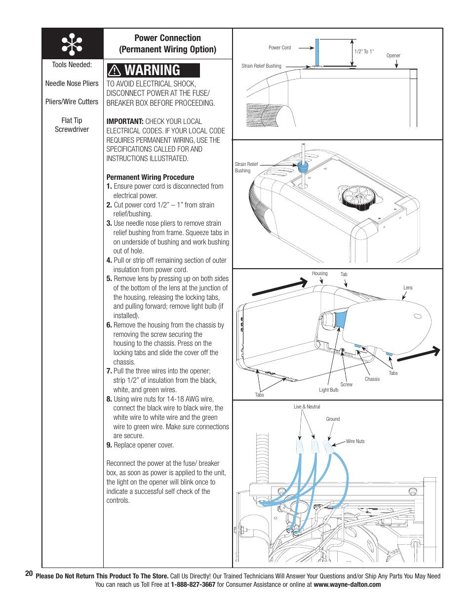 wayne-dalton-prodrive-3222c-z-page26  Flat Wire Diagram on