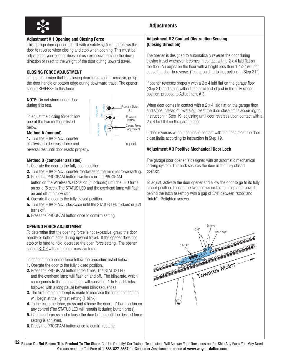 adjustments wayne dalton prodrive 3222c z user manual page 38 rh manualsdir com wayne dalton idrive owners manual wayne dalton 2115 owners manual