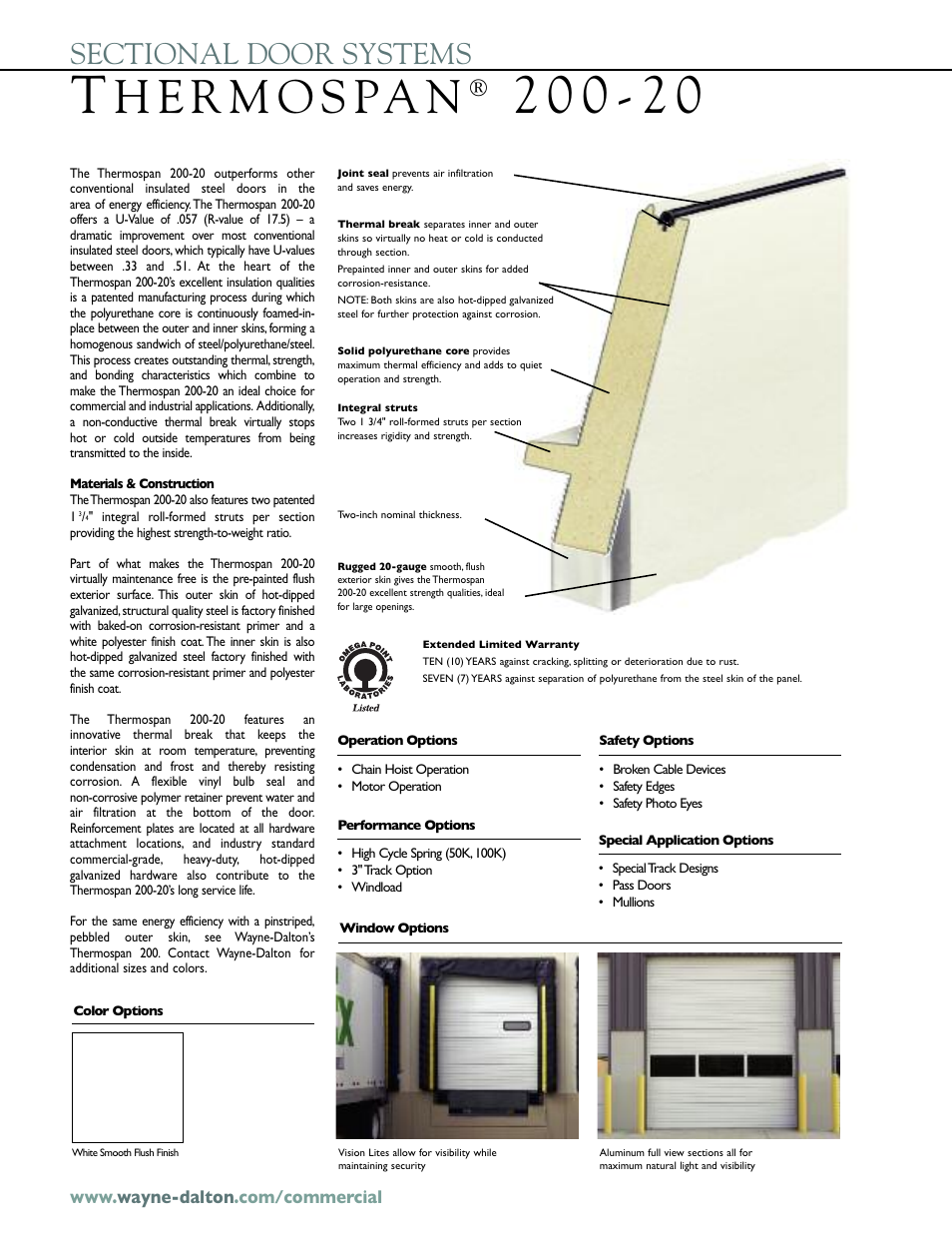 Wayne-Dalton THERMOSPAN 200-20 User Manual | Page 2 / 4