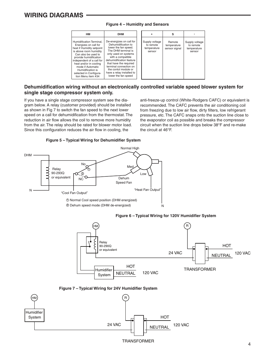 Wiring Diagrams White Rodgers 1f95 1291 User Manual Page 4 16 Typical Evaporator