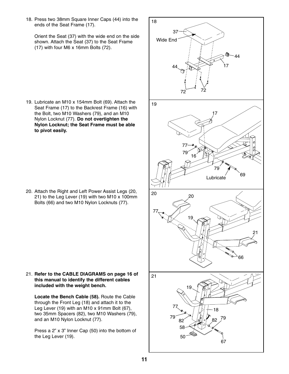 Exercise guidelines | weider pro 575 user manual | page 21 / 26.