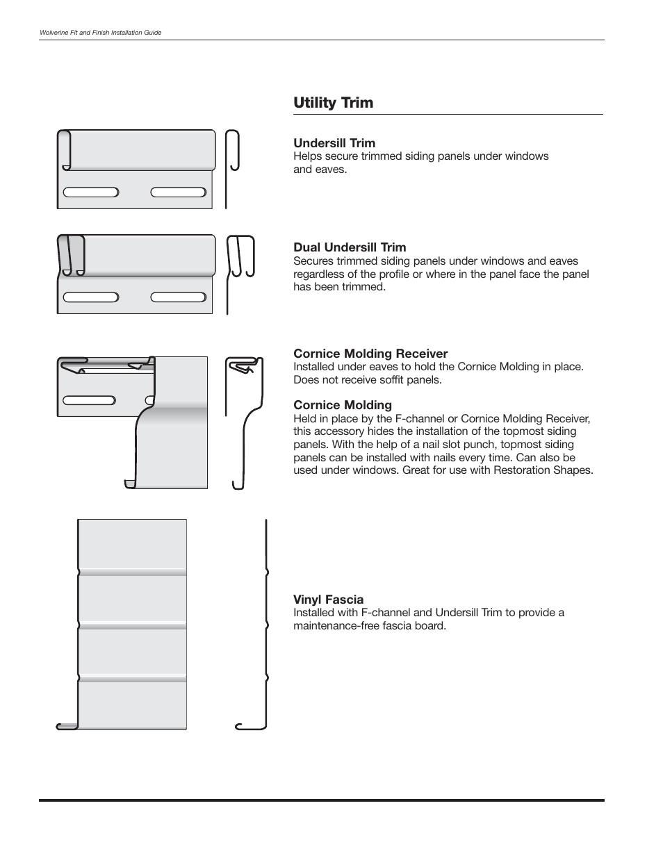 Utility trim | Wolverine Siding and Vinyl Carpentry Soffit