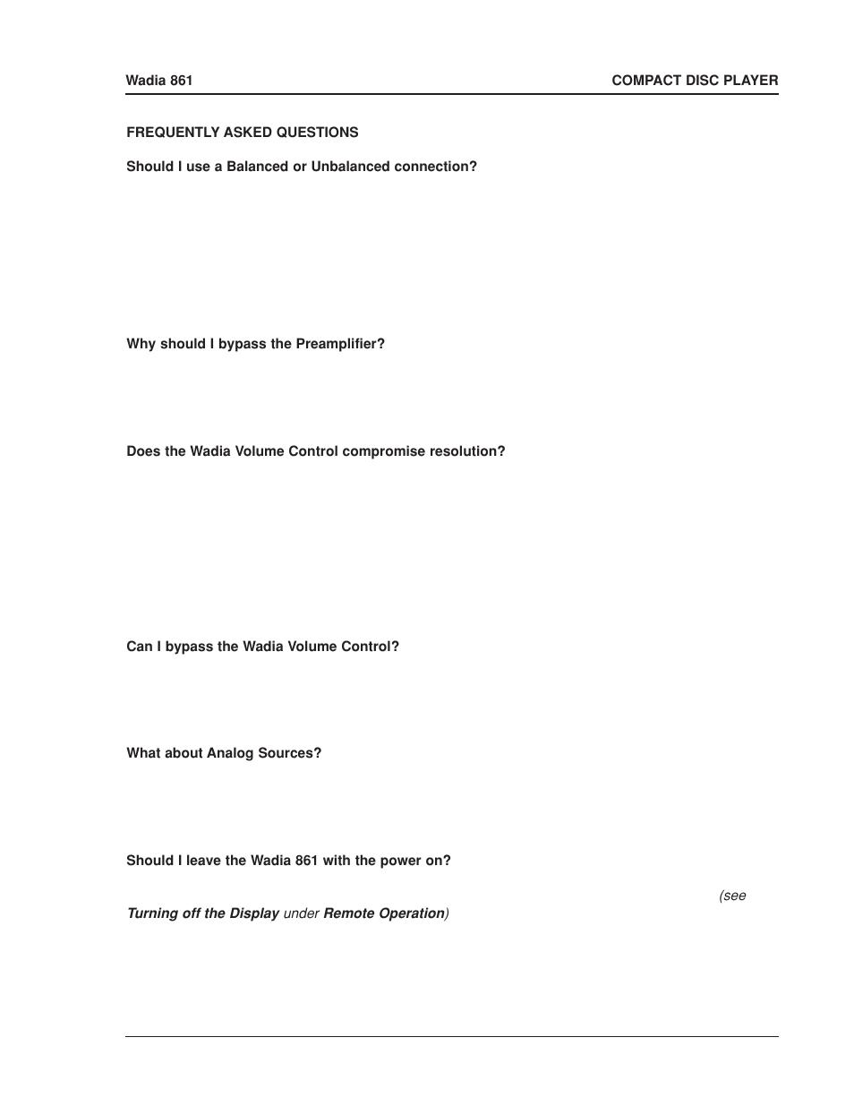 Wadia Digital 861 User Manual | Page 7 / 21
