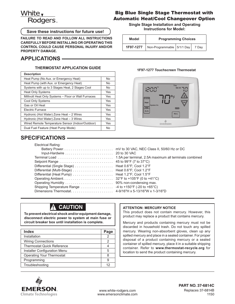 Rv Thermostat The Big Thermostat Info Page Manual Guide