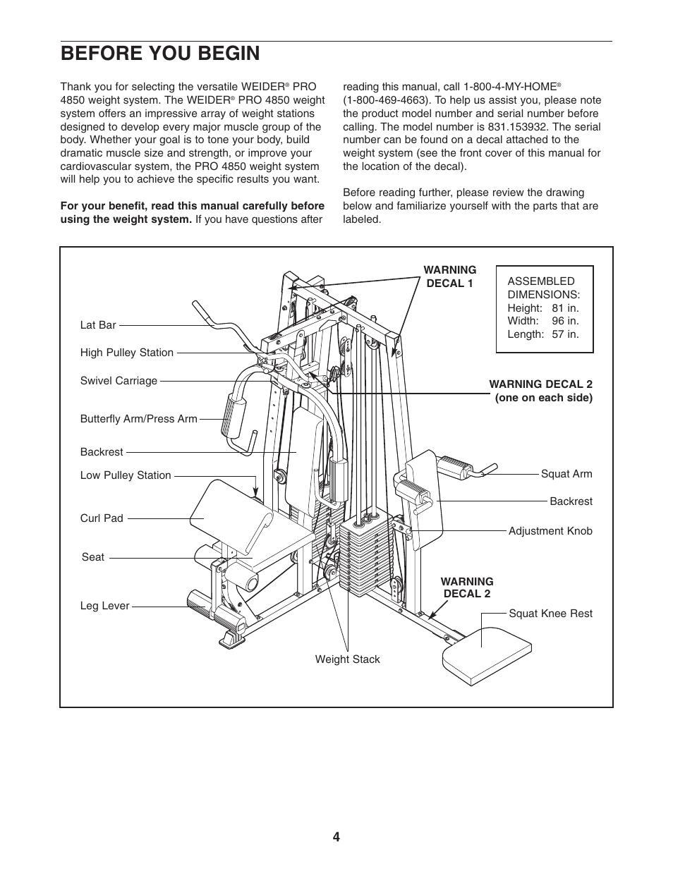 Weider pro 4850 manual pdf.