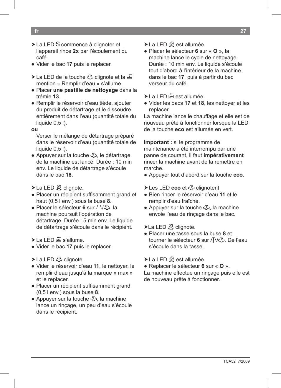 Bosch tca 5201 user manual | page 67 / 100 | original mode.