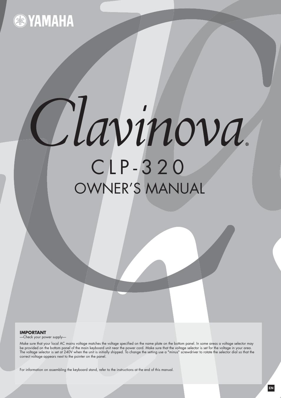 yamaha clavinova clp 320 user manual 44 pages rh manualsdir com Clavinova Logo Yamaha Clavinova
