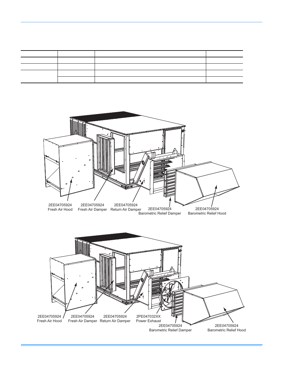 Economizer options, Factory installed downflow economizer | York