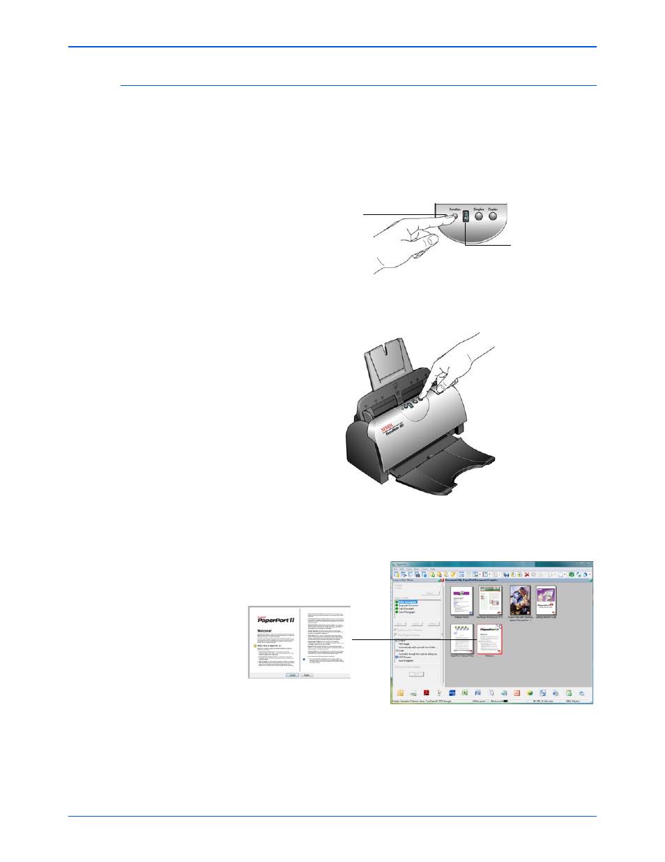 scan from the one touch scanner buttons xerox documate 162 user rh manualsdir com Xerox DocuMate 152 Software Xerox DocuMate Driver