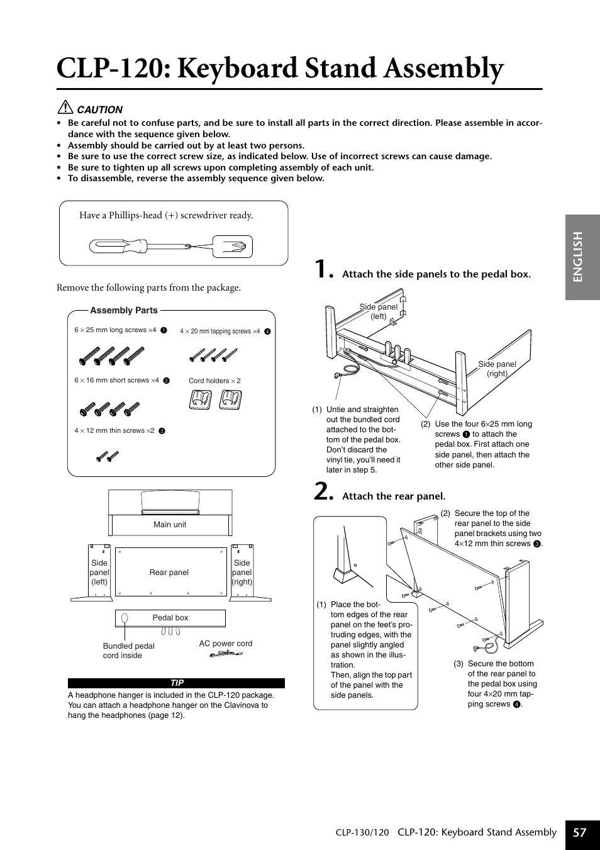 clp 120 keyboard stand assembly english 57 yamaha clp 130 user rh manualsdir com Instruction Manual User Manual PDF