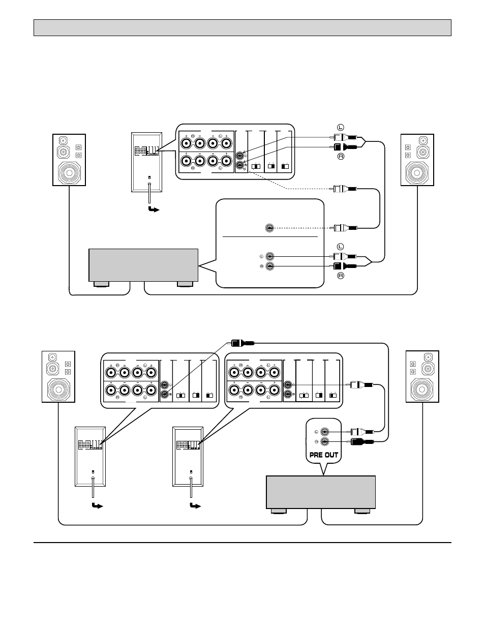 Using one unit using two units | Yamaha YST-SW160/90 User Manual