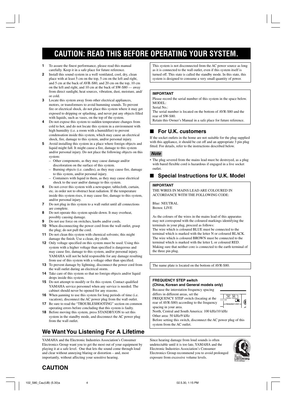 caution caution read this before operating your system we want rh manualsdir com Instruction Manual Book Manuals in PDF
