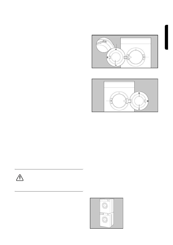 door reversal electrical connection stacking kit zanussi tds rh manualsdir com Owner's Manual Instruction Manual