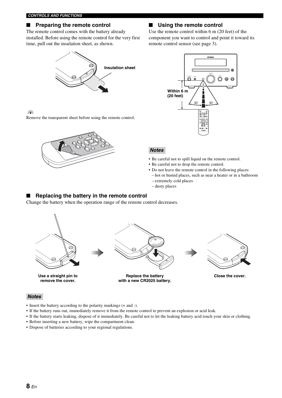 Yamaha 704 Remote Control Owners Manual