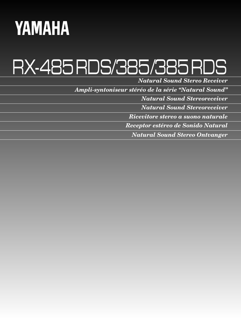 yamaha rx 385 user manual 25 pages also for rx 485. Black Bedroom Furniture Sets. Home Design Ideas