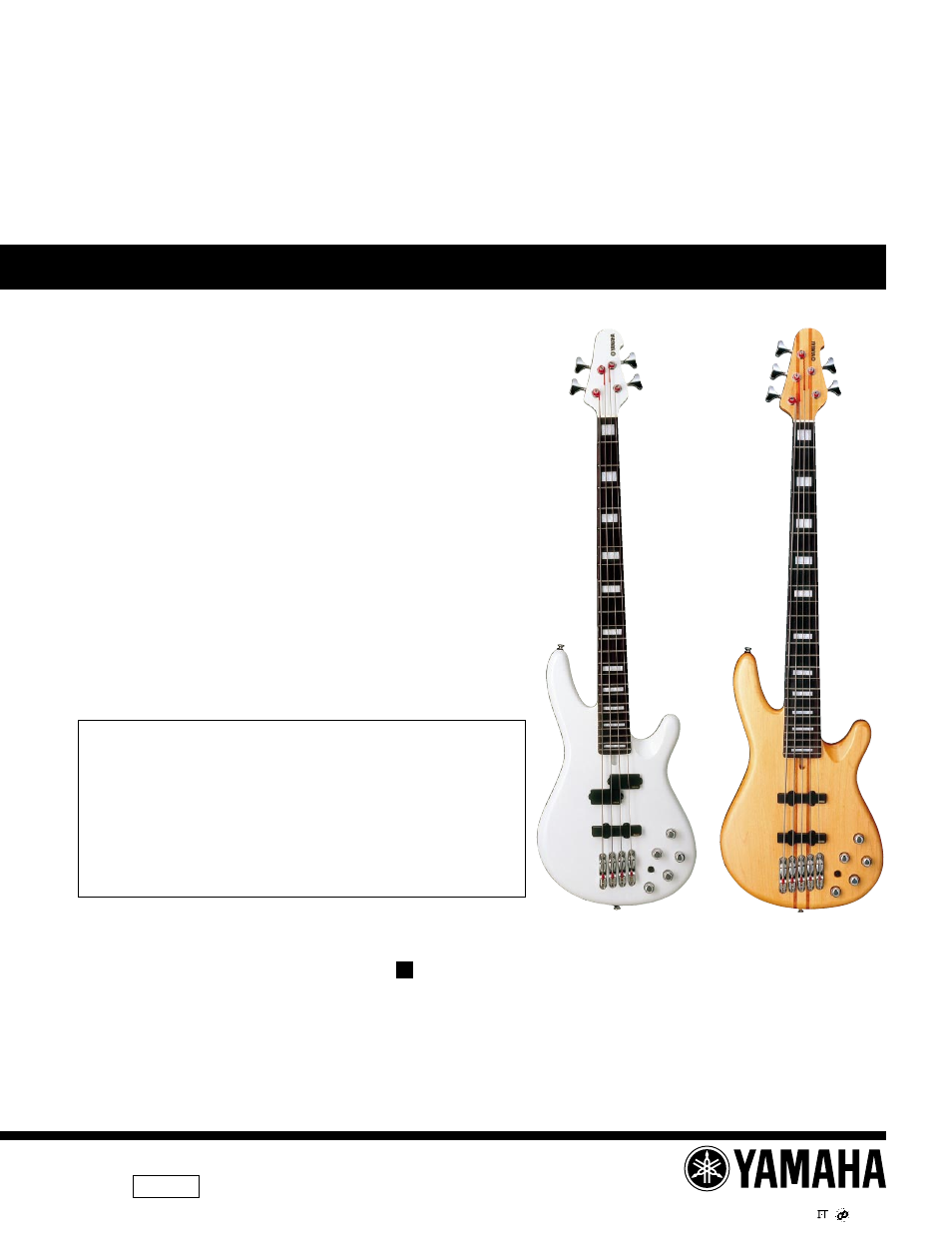 Yamaha Electric Bass Bb2004 User Manual 11 Pages Also For Fender Guitar Wiring Diagram Schematics Parts All About Bb2005