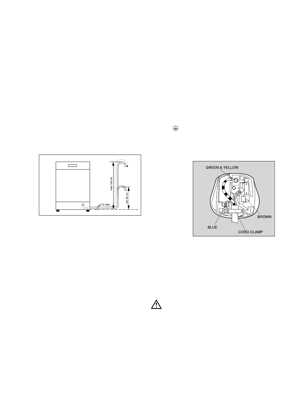 water outlet hose connection electrical connection zanussi de rh manualsdir com