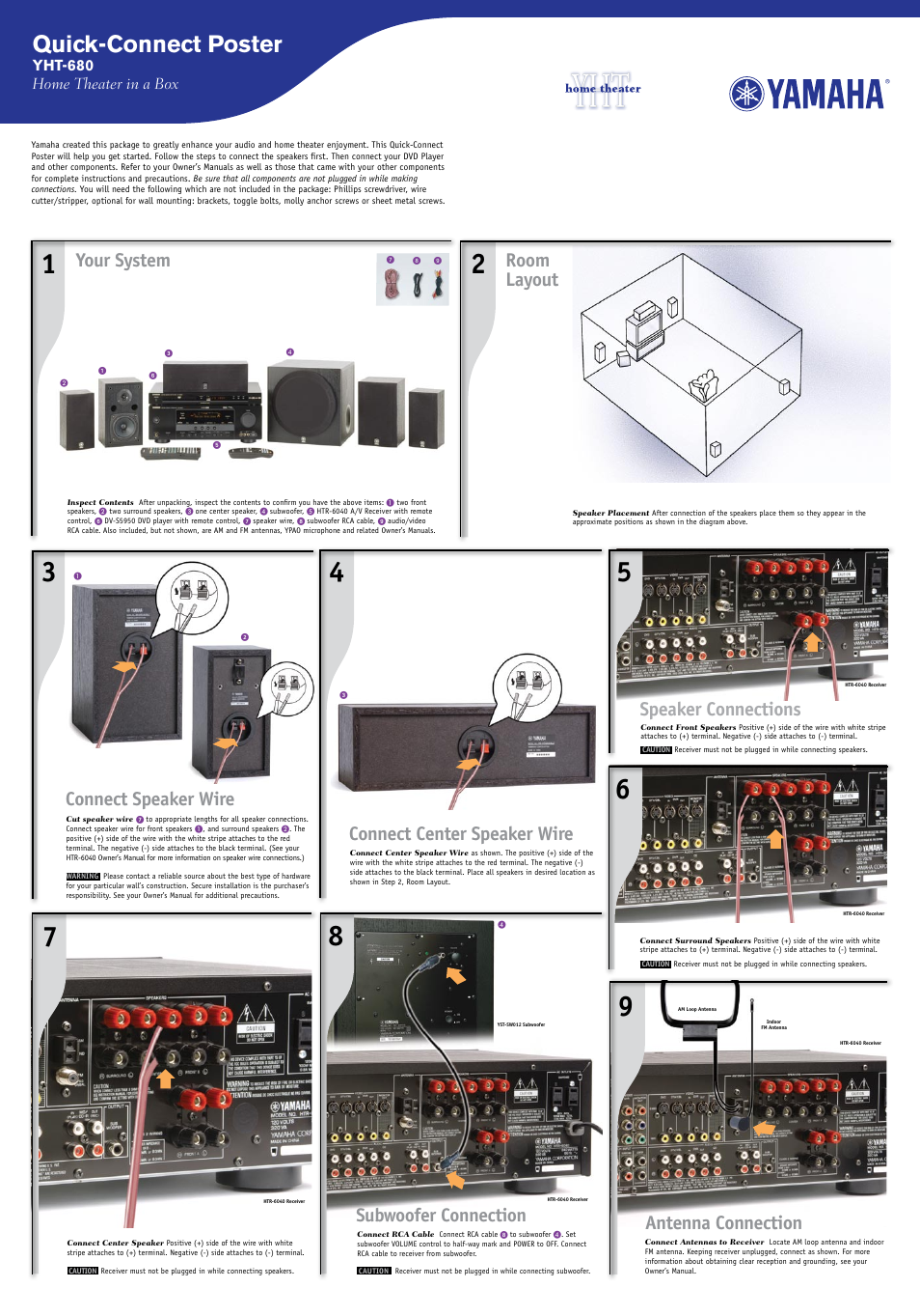 Yamaha HTR-6040 User Manual | 2 pages