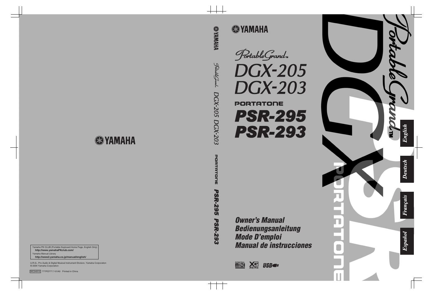 Yamaha Psr User Manual