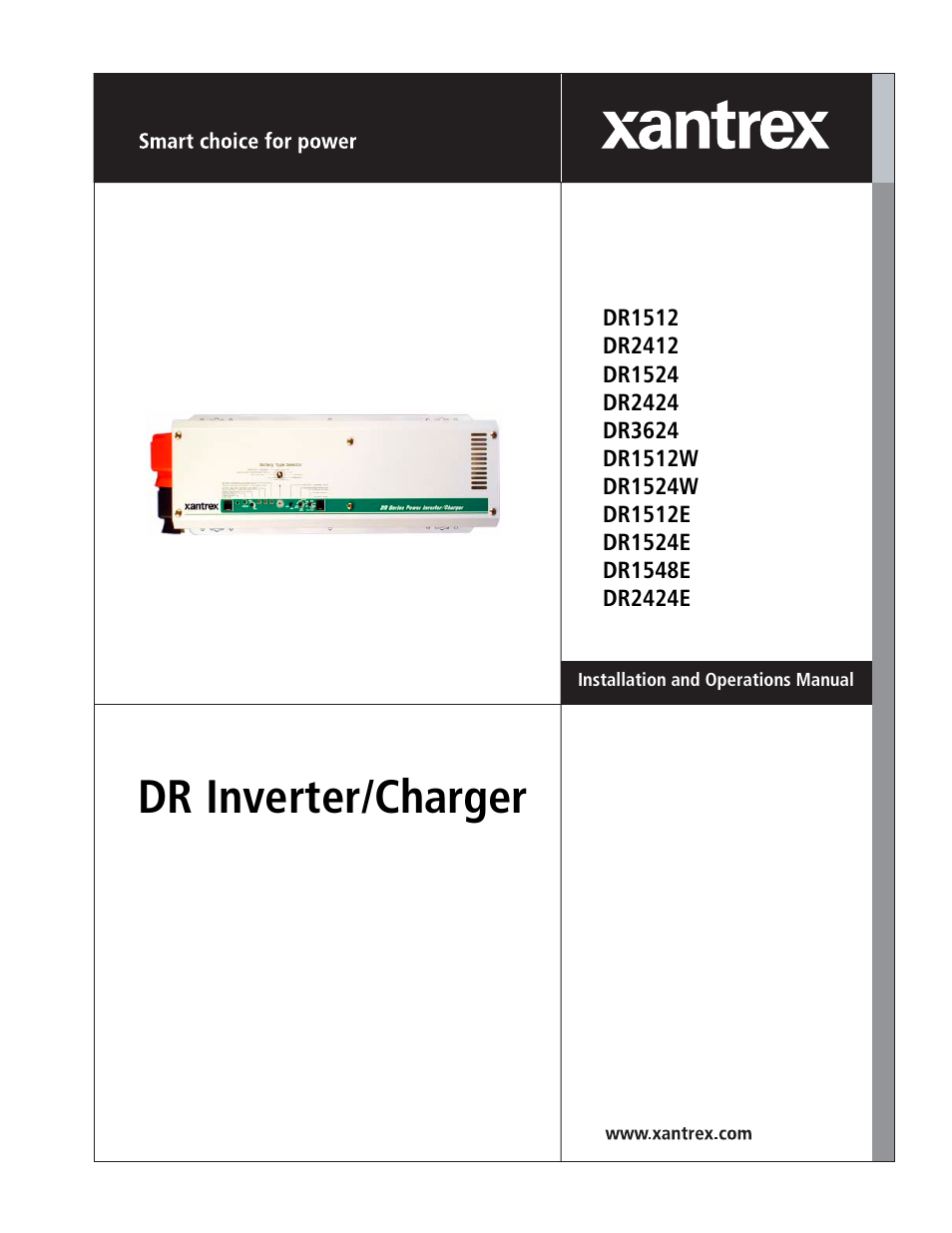 xantrex technology dr1524w user manual 122 pages also for rh manualsdir com Xantrex Inverter Charger Xantrex Powerpack