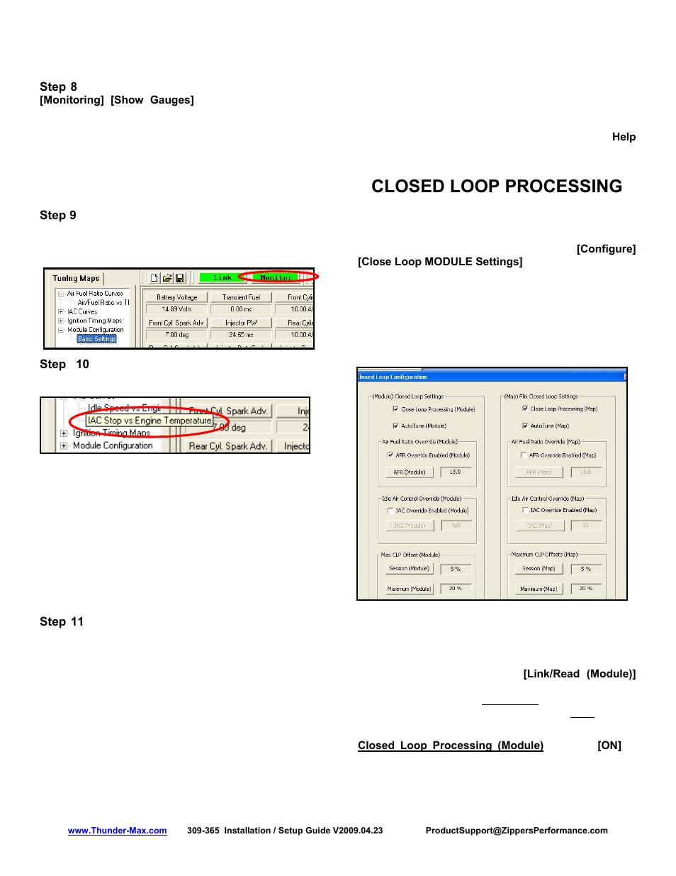 Closed loop processing | Zipper Mowers Thunder-Max 309-365 User Manual |  Page