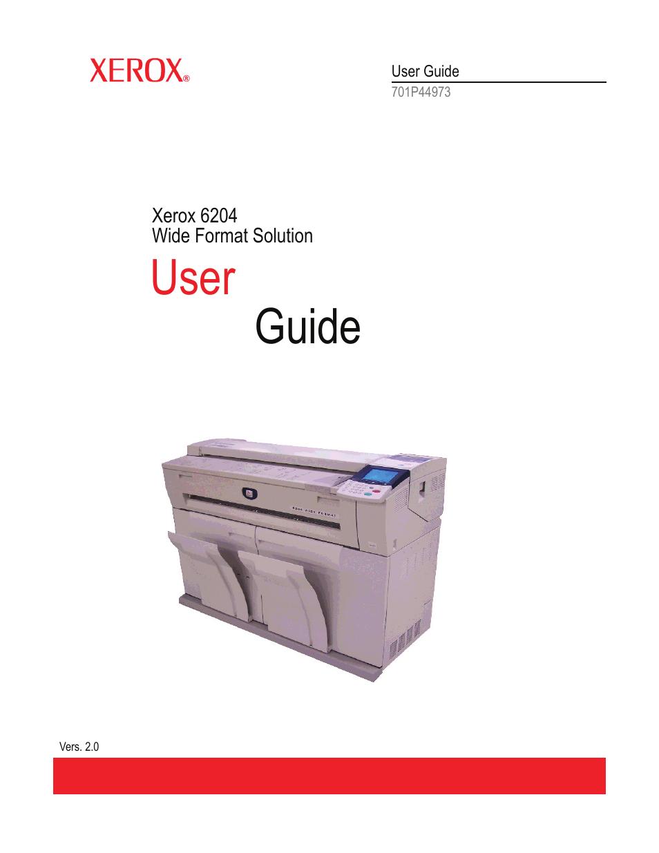 xerox 701p44973 user manual 206 pages rh manualsdir com Brochure Xerox 6204 Xerox 6204 User Guide