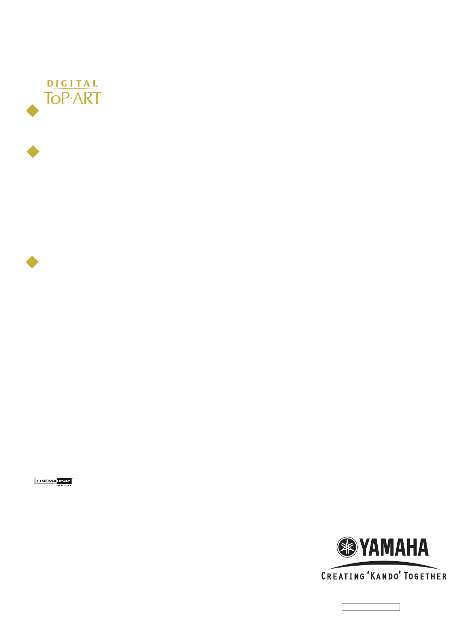 Rx-v640 notable features, 10/10 (r/l/t/k), Yamaha