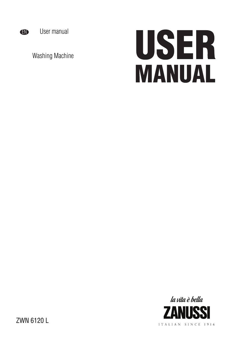 zanussi zwn 6120 l user manual 24 pages rh manualsdir com zanussi washing machine operating instructions Washing Machine Clip Art