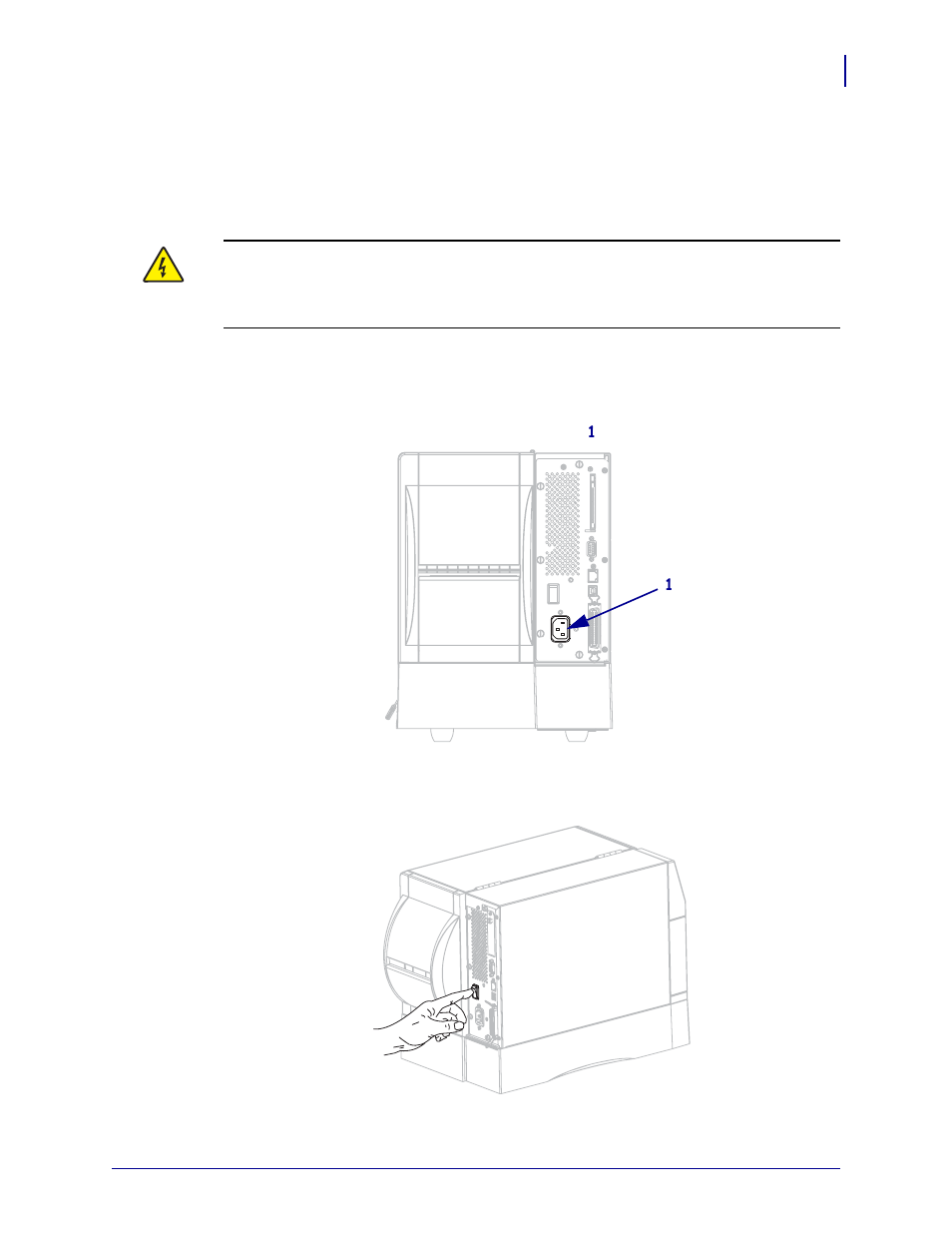 Connect The Printer To A Power Source Zebra Zm400 User Manual Iec 320 Switch Wiring Diagram Page 31 146