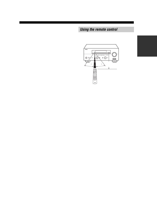 using the remote control yamaha rx v557 user manual page 11 92 rh manualsdir com yamaha rx-v557 owners manual Yamaha RX- V463