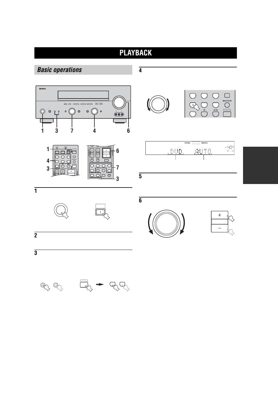 basic operation playback basic operations yamaha rx v557 user rh manualsdir com yamaha rx-v557 manual pdf yamaha rx 550 manual