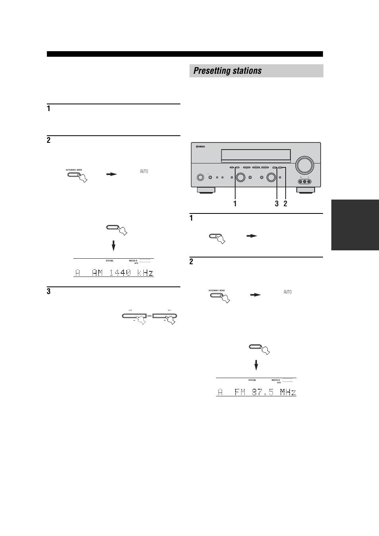 presetting stations manual tuning automatically presetting fm rh manualsdir com Yamaha RX- V463 yamaha rx-v557 owners manual