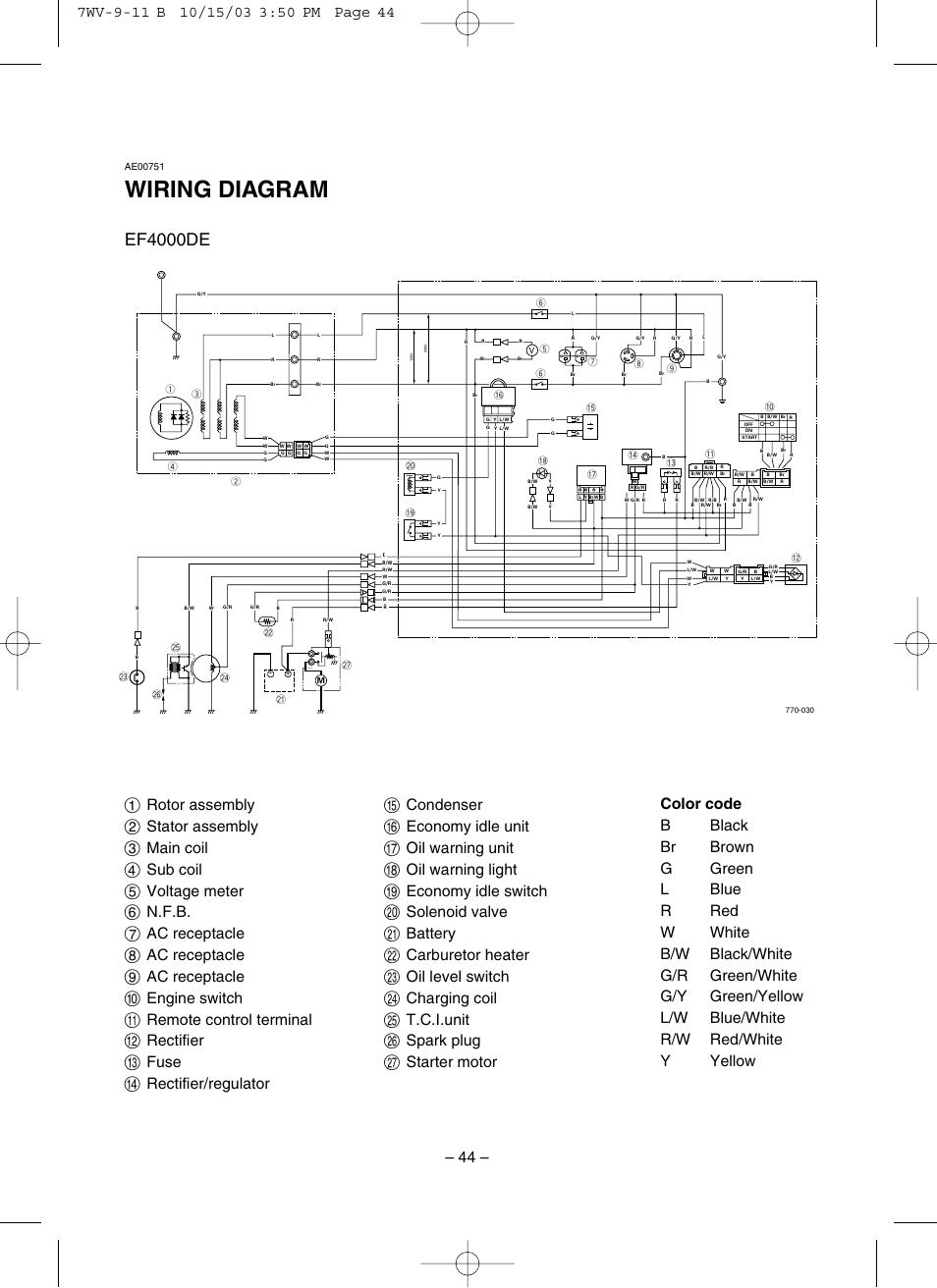 Wiring Diagram  Ef4000de