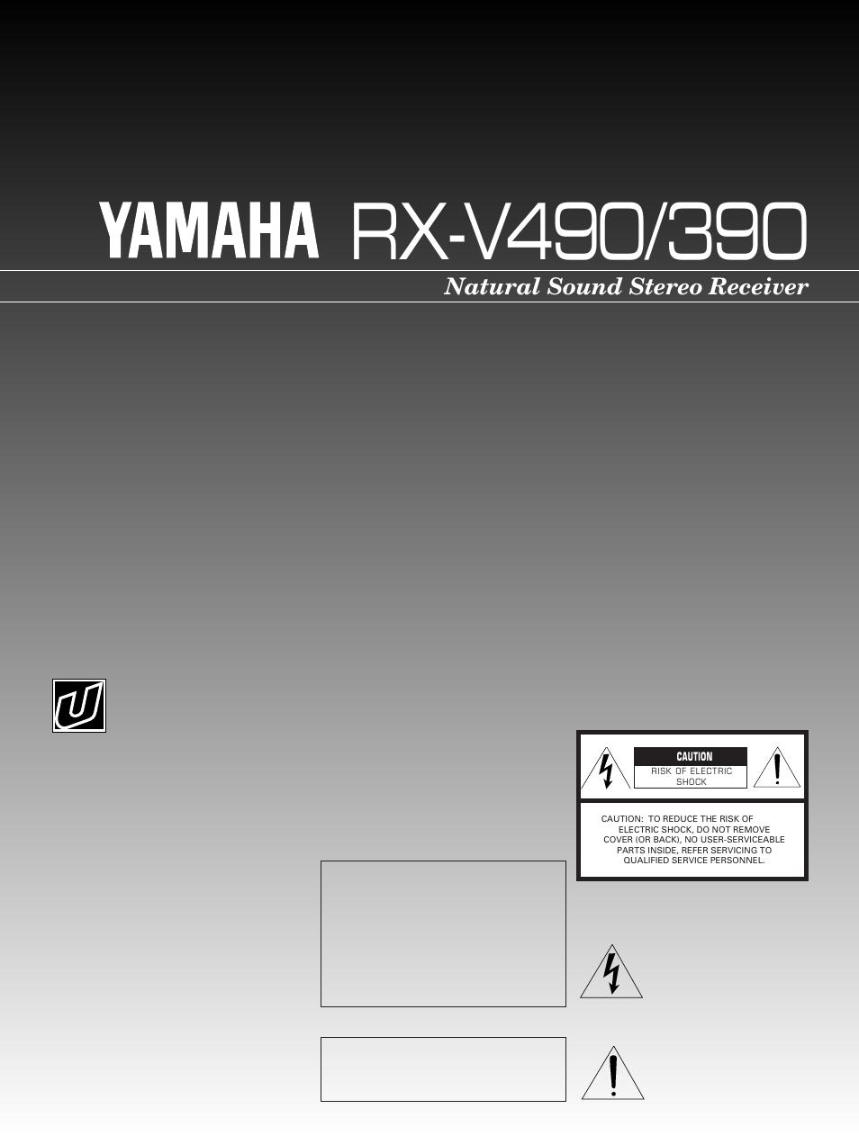 Yamaha RX-V4/390 User Manual | 31 pages