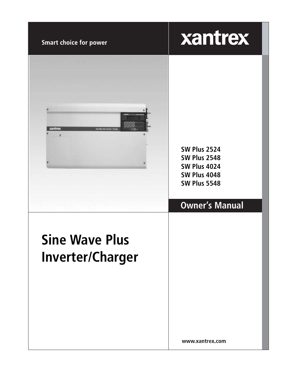 xantrex technology sw plus 4024 user manual 344 pages also for rh manualsdir com Xantrex Inverter Charger Xantrex Inverters