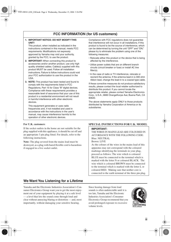 we want you listening for a lifetime fcc information for us rh manualsdir com User Manual PDF User Manual PDF