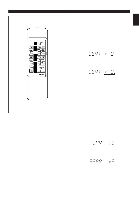 Adjusting center speaker level, Adjusting rear speaker level, E-47