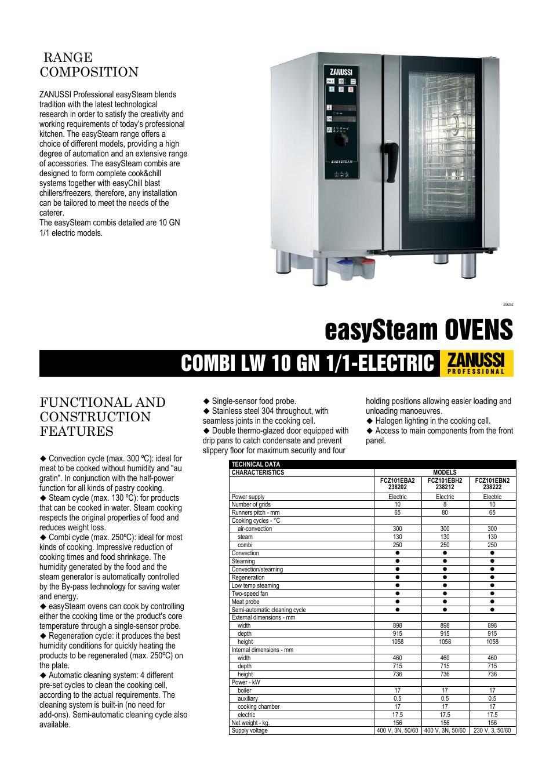 zanussi easysteam fcz101eba user manual 3 pages also for rh manualsdir com zanussi electrolux electric cooker manual zanussi electric oven parts