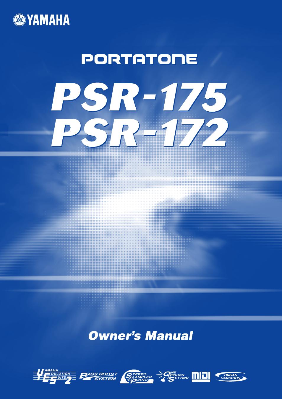 yamaha psr 172 en user manual 64 pages rh manualsdir com Yamaha PSR- 293 Yamaha PSR- 293