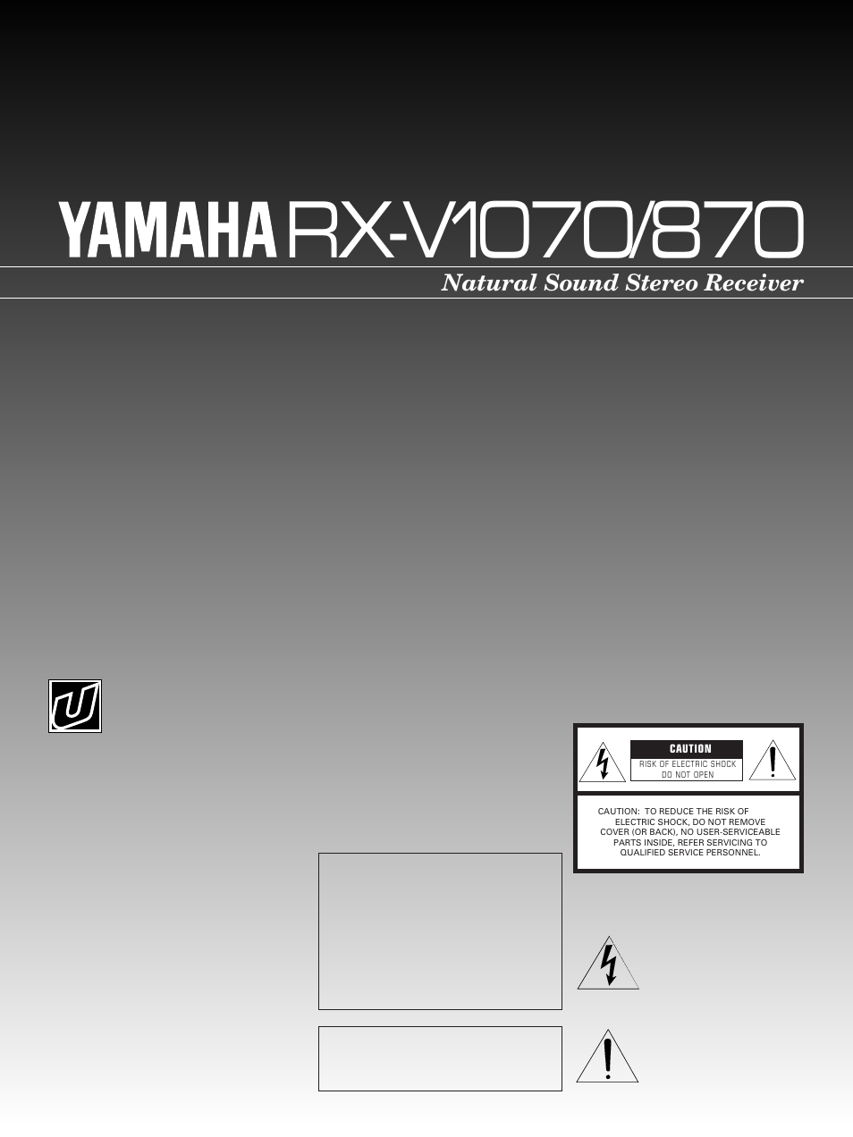 Yamaha RX-V1070 User Manual | 31 pages | Also for: RX-V1870
