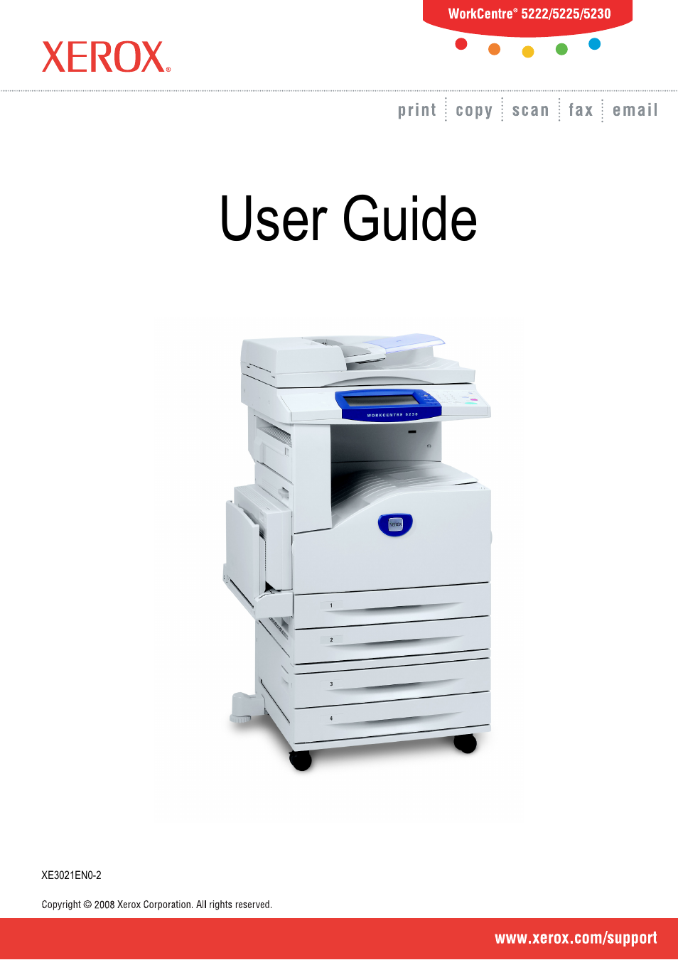 Xerox 5222 User Manual   182 pages