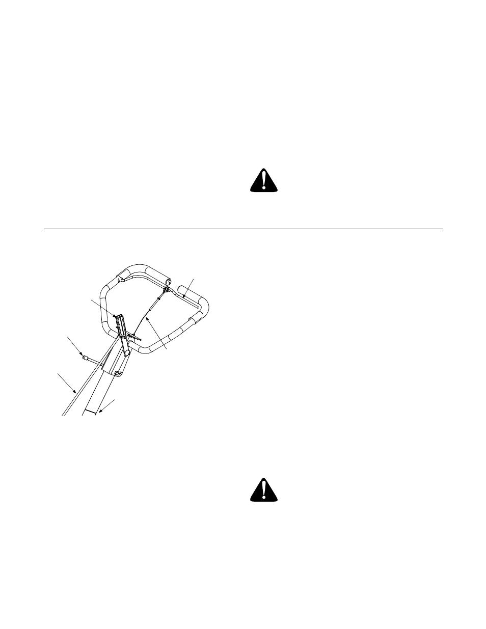 Tire pressure, Throttle control, Choke lever | Yard-Man RT65 User
