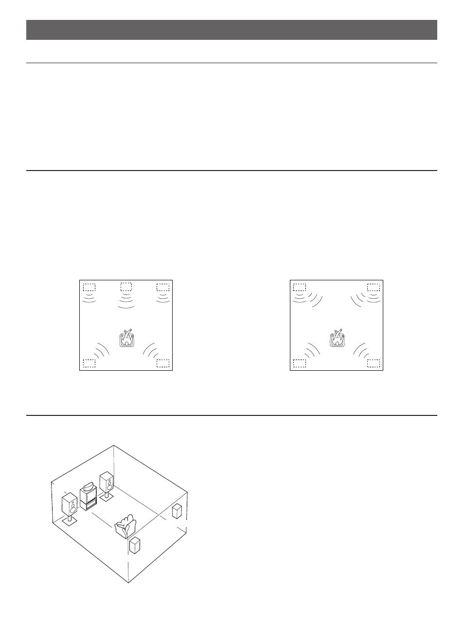 Speaker setup, Speakers to be used, Speaker configuration