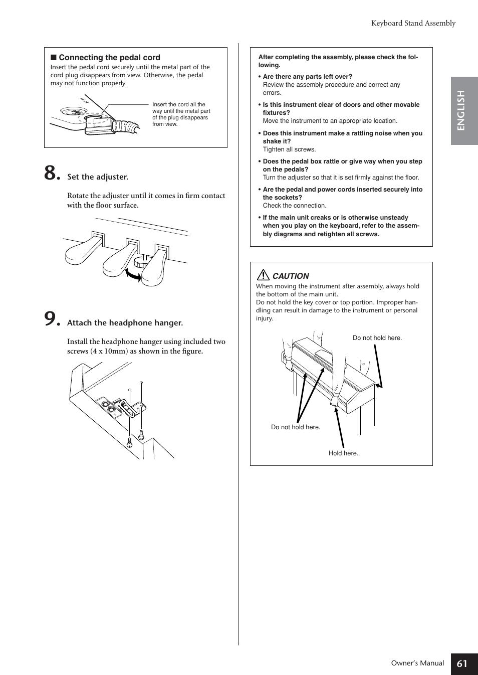 61 english keyboard stand assembly caution yamaha arius ydp 181 rh manualsdir com yamaha neos instruction manual yamaha instruction manual dgx-620