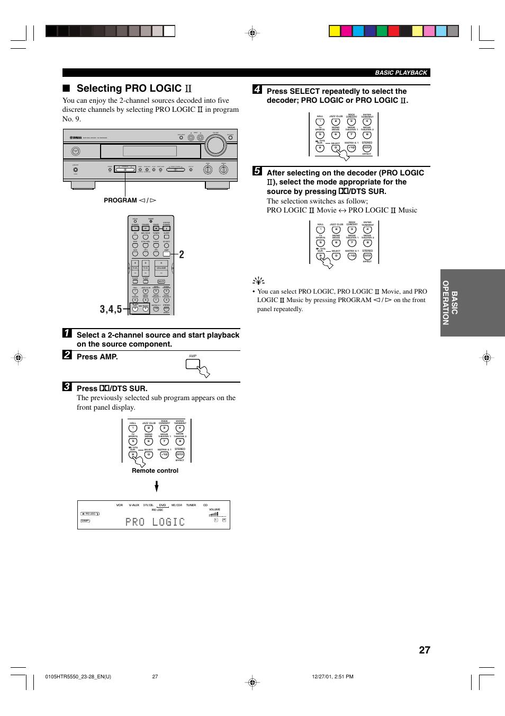 selecting pro logic press amp remote control yamaha htr 5550 rh manualsdir com Yamaha HTR 5550 Review yamaha htr 5250 manual
