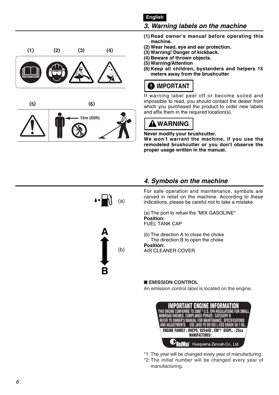 Zenoah Engines Manual  Trendy Warning With Zenoah Engines