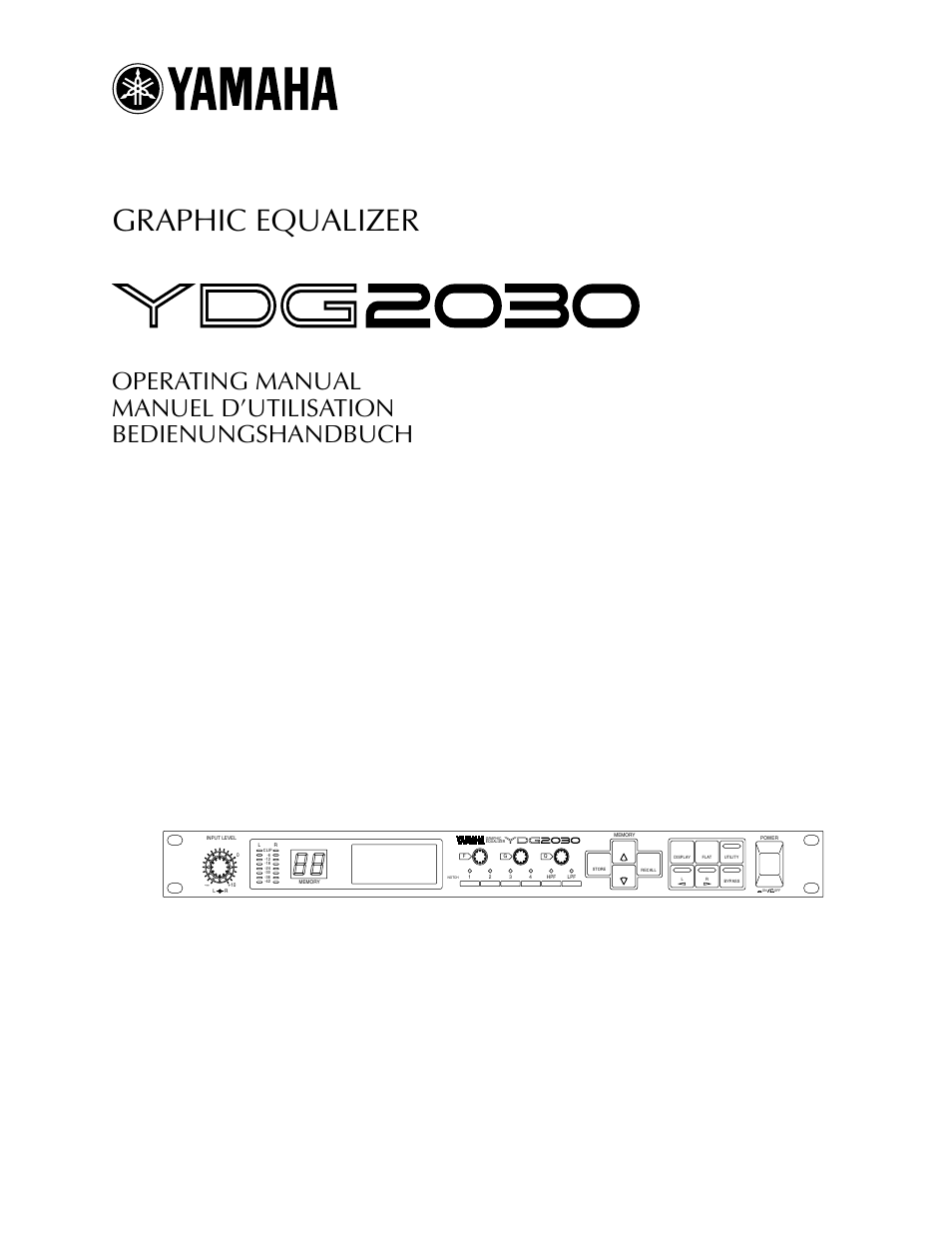 Yamaha YDG2030 User Manual | 27 pages